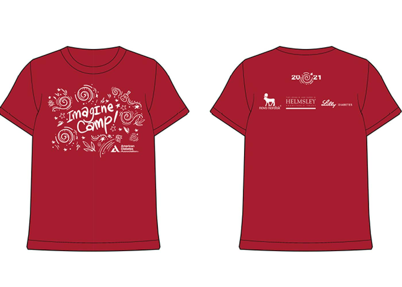 Front and back of Imagine Camp short sleeve shirt