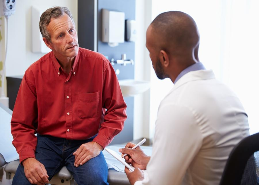 Male Doctor and Male Patient