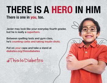 Campaign image from This Is Diabetes - boy in hero's cape