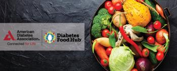 Vegetables on black plate with DFH logo